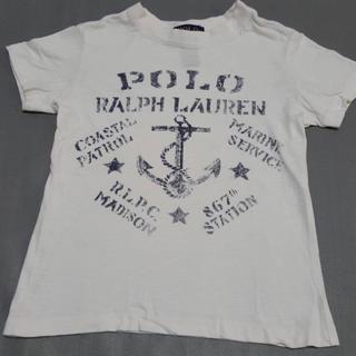 ポロラルフローレン(POLO RALPH LAUREN)のラルフローレン 子供服 キッズ 半袖 シャツ 3T 白 オフホワイト(Tシャツ/カットソー)