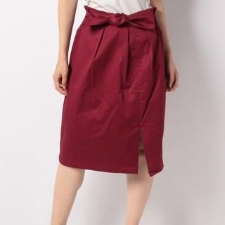 アーバンリサーチ(URBAN RESEARCH)の新品タグ付きアーバンリサーチ☆スリットリボンスリット(ひざ丈スカート)