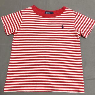 ポロラルフローレン(POLO RALPH LAUREN)のラルフローレン 100 Tシャツ ボーダー 赤 綿 男女 兼用 Polo ポロ(Tシャツ/カットソー)