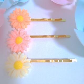 お花のヘアピンセット♡全3色(ヘアピン)