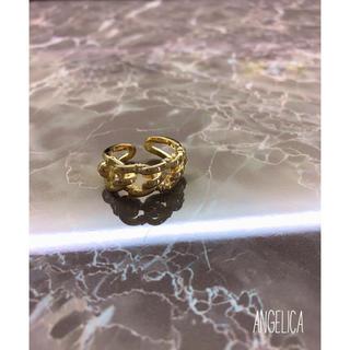 ザラ(ZARA)のレトロビックチェーンリング(リング(指輪))