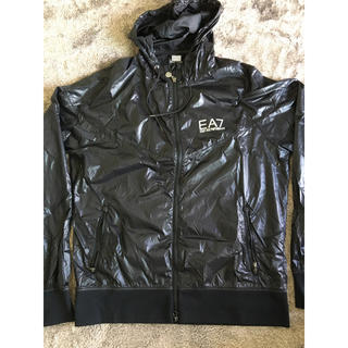 エンポリオアルマーニ(Emporio Armani)のエンポリオアルマーニ:パーカー:黒色:収納袋付き:XL(Tシャツ/カットソー(七分/長袖))