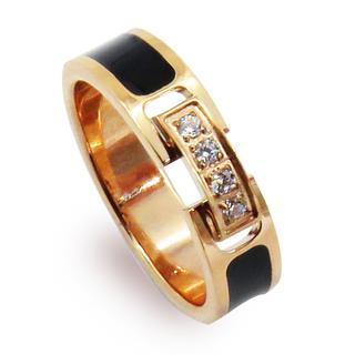 指輪 リング ジルコニア バックル ベルト ピンクゴールド ステンレス 可愛い(リング(指輪))
