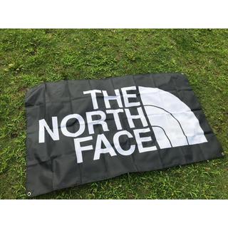 ザノースフェイス(THE NORTH FACE)のThe North Face ナイロンフラッグ 850×1470 大サイズ  黒(ナイロンジャケット)