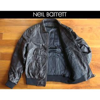 ニールバレット(NEIL BARRETT)のNeil Barrett ニールバレット イタリア製 羊革ブルゾン 濃褐 S(レザージャケット)