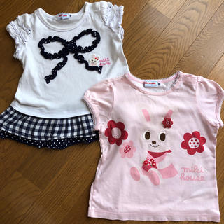 ミキハウス(mikihouse)のmikihouse 80 90 Tシャツ 2枚セ(Tシャツ)