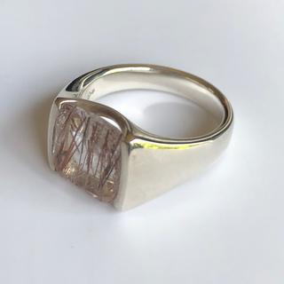 アガット(agete)のシルバースプーン ルチル 15号(リング(指輪))
