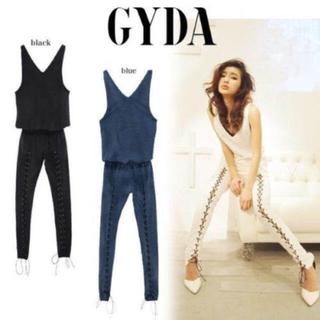 GYDA - GYDA レースアップ オールインワン