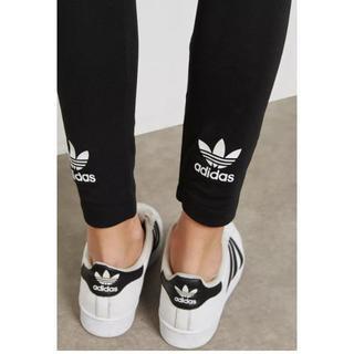 アディダス(adidas)のadidas originals アディダス Sサイズ ロゴ レギンス ブラック(レギンス/スパッツ)