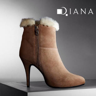 ダイアナ(DIANA)のDIANA ショートファーブーツ 21.5cm 未使用美品(ブーツ)