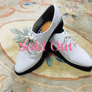 レディース プレーントゥ エナメル 人気 白 ホワイト 3L 25(ローファー/革靴)
