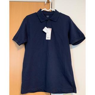 UNIQLO - 【UNIQLO】半袖ポロシャツ ネイビー メンズMサイズ