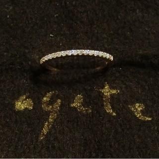 アガット(agete)のアガット 0.05ctダイヤ付K10ピンキーリング 1号/ハーフエタニティリング(リング(指輪))
