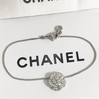 シャネル(CHANEL)の正規品 シャネル ブレスレット カメリア 銀 ココマーク ラインストーン 花 石(ブレスレット/バングル)