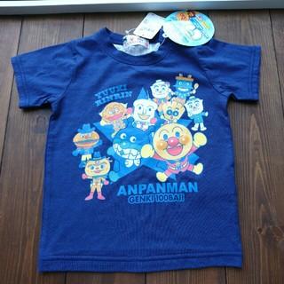 バンダイ(BANDAI)のアンパンマン 半袖Tシャツ 紺色  90㎝(Tシャツ/カットソー)