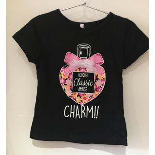 シマムラ(しまむら)の【110cm 】チュールリボン付きTシャツ【女の子】(Tシャツ/カットソー)
