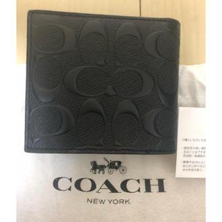 コーチ(COACH)の送料無料 COACH 二つ折り財布 新品未使用(折り財布)