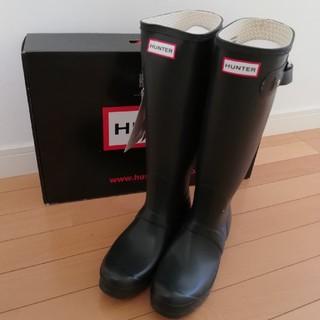 Hunter ハンターレインブーツロングUK6 ダークオリーブ新品タグ付き未使用
