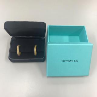 Tiffany & Co. - ティファニー サマセットフープピアス ミディアム k18イエローゴールド