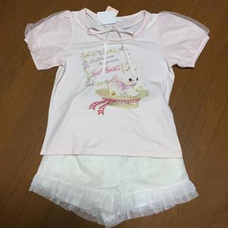 LIZ LISA - リズリサ ラビット Tシャツ ケミカルレース ショートパンツ 新品 セット