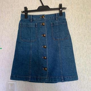 バーバリーブルーレーベル(BURBERRY BLUE LABEL)のブルーレーベルクレストブリッジ デニムスカート 36(ミニスカート)