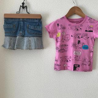 UNIQLO - 《女の子 100cm ❤️ トップス & スカート》