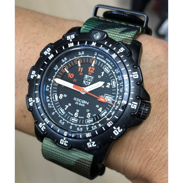 timeless design 57a02 f1278 リーコン/時計/RECON/NATOベルト/迷彩/カスタム/ルミノックス/中古