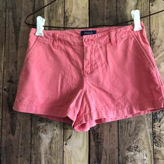 ラルフローレン(Ralph Lauren)の未使用品 ラルフローレン  サーモンピンク ショートパンツ 140(パンツ/スパッツ)