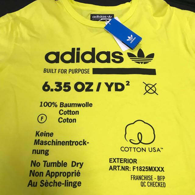 adidas(アディダス)の新品 LA購入レア adidas origimals イエロー Tシャツ XL メンズのトップス(Tシャツ/カットソー(半袖/袖なし))の商品写真