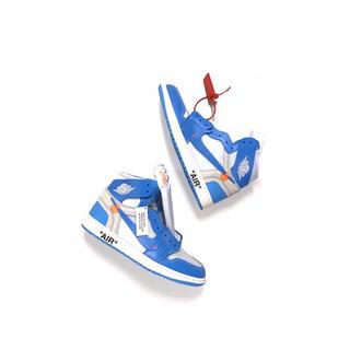正規品 OFF-WHITE × NIKE ジョーダン1 レトロ ブルー