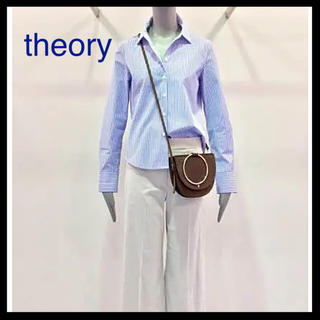 theory - theory 2018S/S ブルーストライプシャツ