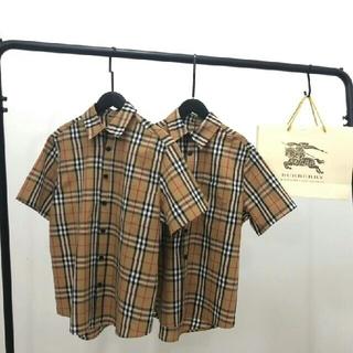 BURBERRY - Burberry シャツ 半袖 男女兼用 Lサイズ