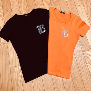 ボッシュ(BOSCH)のBOSCH ボッシュ 2枚組☆ Tシャツ ブラック オレンジ 38(Tシャツ(半袖/袖なし))