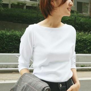 IENA - AURALEE*IENA 別注ボートネックTシャツ
