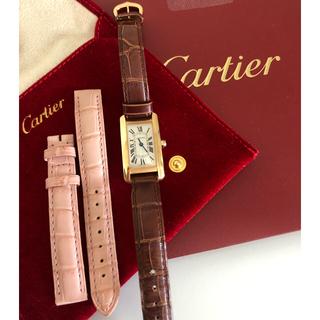 Cartier - カルティエ タンクアメリカン SM ピンクゴールド 最新モデル 120万 美品