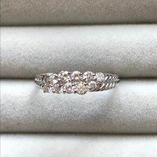 0.5カラット プラチナ ダイヤ 二列 リング(リング(指輪))