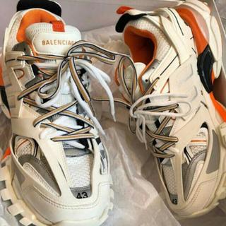 バレンシアガ(Balenciaga)のBALENCIAGA TRACK 白 オレンジ 43(スニーカー)