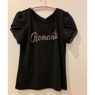 リズリサ(LIZ LISA)の黒 ロゴTシャツ(Tシャツ(半袖/袖なし))