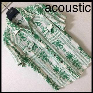 ◆レア◆acoustic アコースティック◆ウエスタン アロハ シャツ XL(シャツ)