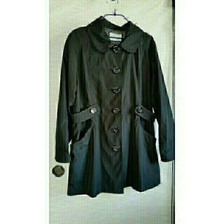 しまむら - 大きいサイズ4L スプリングコート ブラック