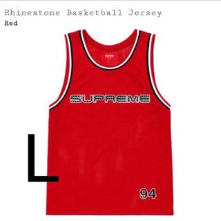 シュプリーム(Supreme)のSupreme Rhinestone Basketball Jersey L(タンクトップ)