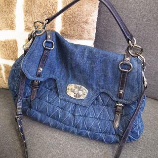ミュウミュウ(miumiu)の正規品☆ミュウミュウ 2wayバッグ デニム マテラッセ バイカー バッグ 財布(ショルダーバッグ)