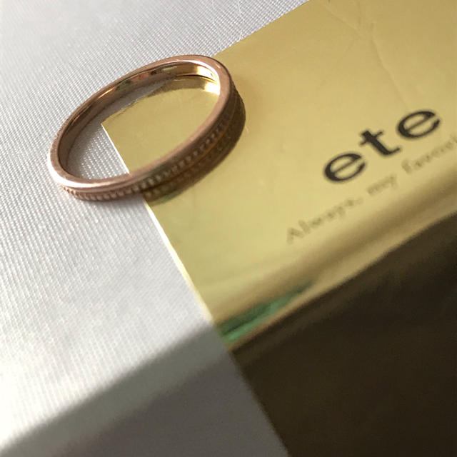 ete(エテ)のete ピンキーリング 5号 ピンクゴールド レディースのアクセサリー(リング(指輪))の商品写真