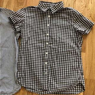 MUJI (無印良品) - 無印良品 チェックシャツ ストライプシャツ 二枚セット