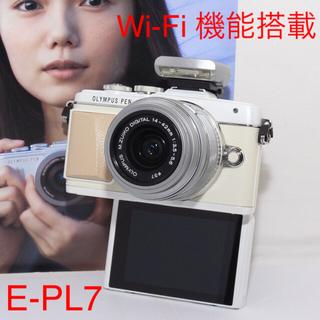 OLYMPUS - ✨Wi-Fi搭載✨オリンパス PEN Lite E-PL7 レンズセット✨美品✨