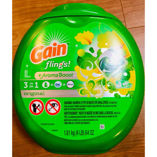 コストコ(コストコ)の特大 81個 Gain ゲインオールインワン ジェルボール アメリカ 洗剤(洗剤/柔軟剤)