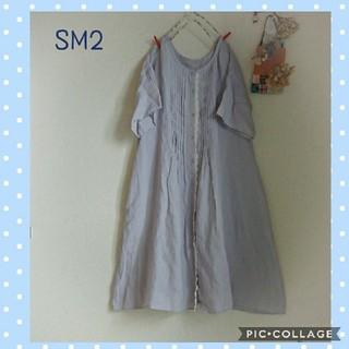 サマンサモスモス(SM2)のSM2*リネンワンピース(ひざ丈ワンピース)