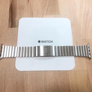 Apple Watch - 純正 美品 apple watch 42mm リンクブレスレット シルバー