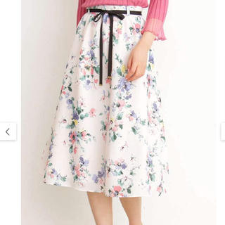 PROPORTION BODY DRESSING - プロポーションボディドレッシングファジーフラワープリントスカート