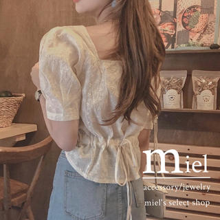 Honey mi Honey - cotton back ribbon blouse💐/バックリボン ブラウス